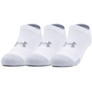 Paquete de tres pares de calcetines HeatGear® No Show para jóvenes 1346754-100